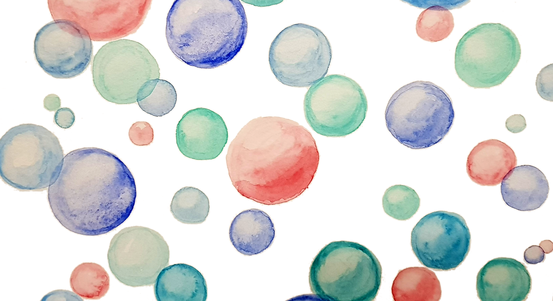 watercolor bubbles